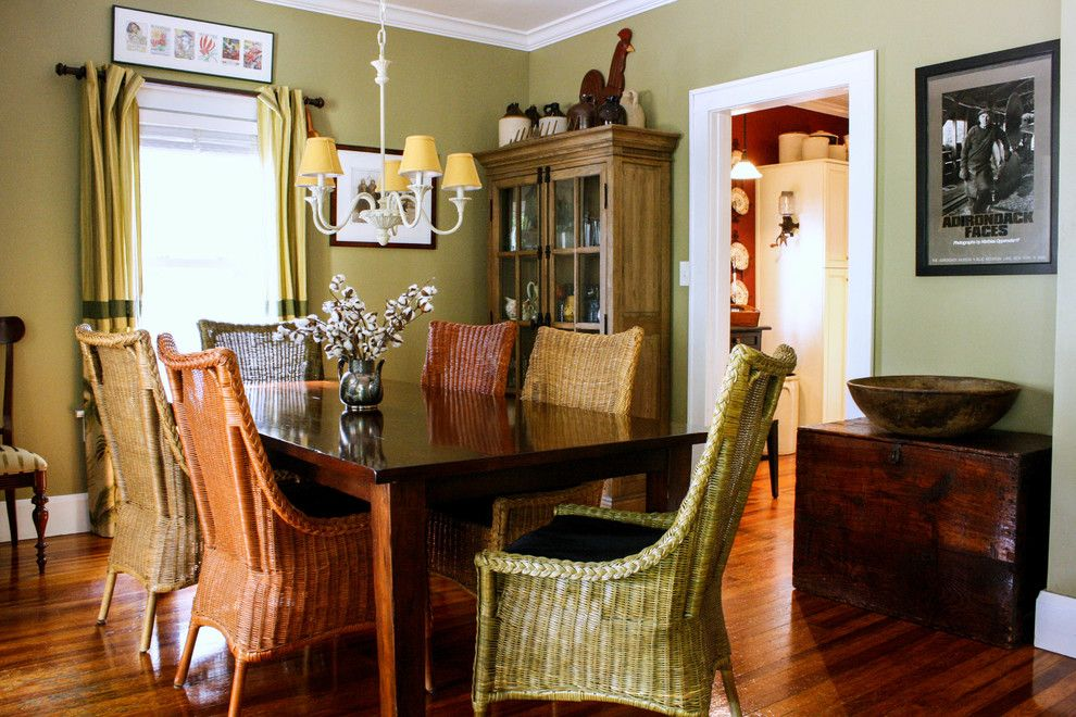 Refinishing a Table for a Traditional Dining Room with a Dark Wood Chest and Dombroski Residence by Mina Brinkey