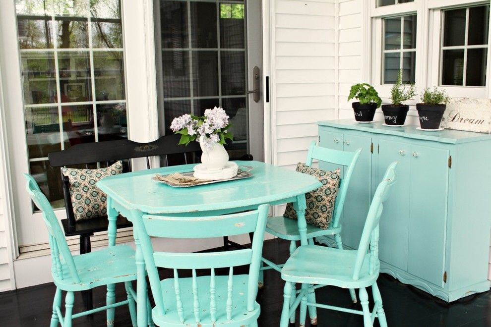 Refinishing a Table for a Traditional Patio with a Traditional and Traditional Patio by Hometowngirl.typepad.com