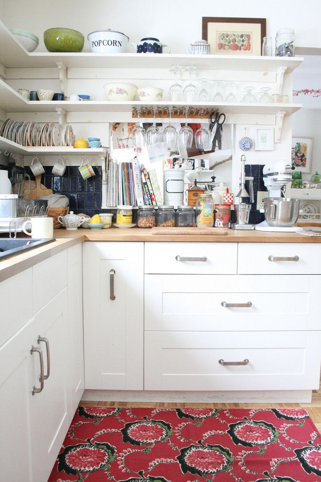 Removing Garbage Disposal for a Eclectic Kitchen with a Kitchen Shelves and Eclectic Kitchen by Nestprettythings.com