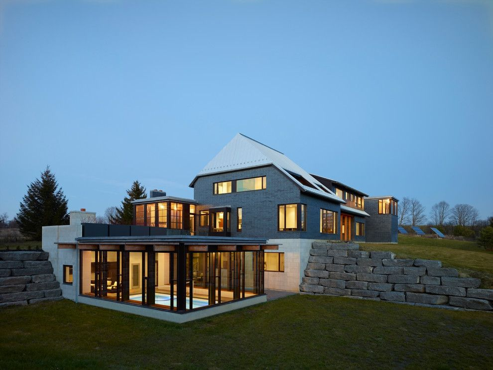 Rendition Homes for a Contemporary Exterior with a Glass House and Cedarbrook House by Boxwood Architects