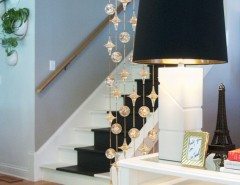 Rendition Homes for a Eclectic Staircase with a White Trim and My Houzz: Garage Sale Meets Glam in Ohio by Adrienne DeRosa