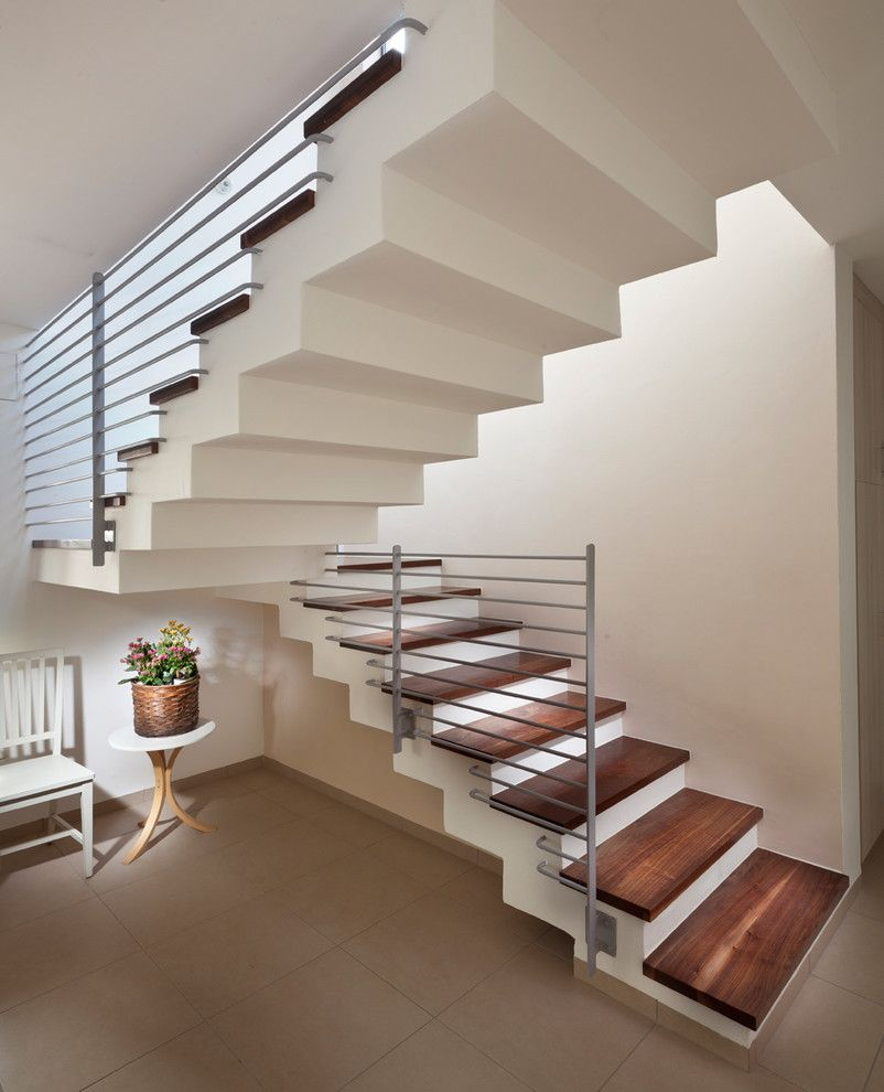 Rendition Homes for a Modern Staircase with a Staircase Landing and Staircase by Elad Gonen