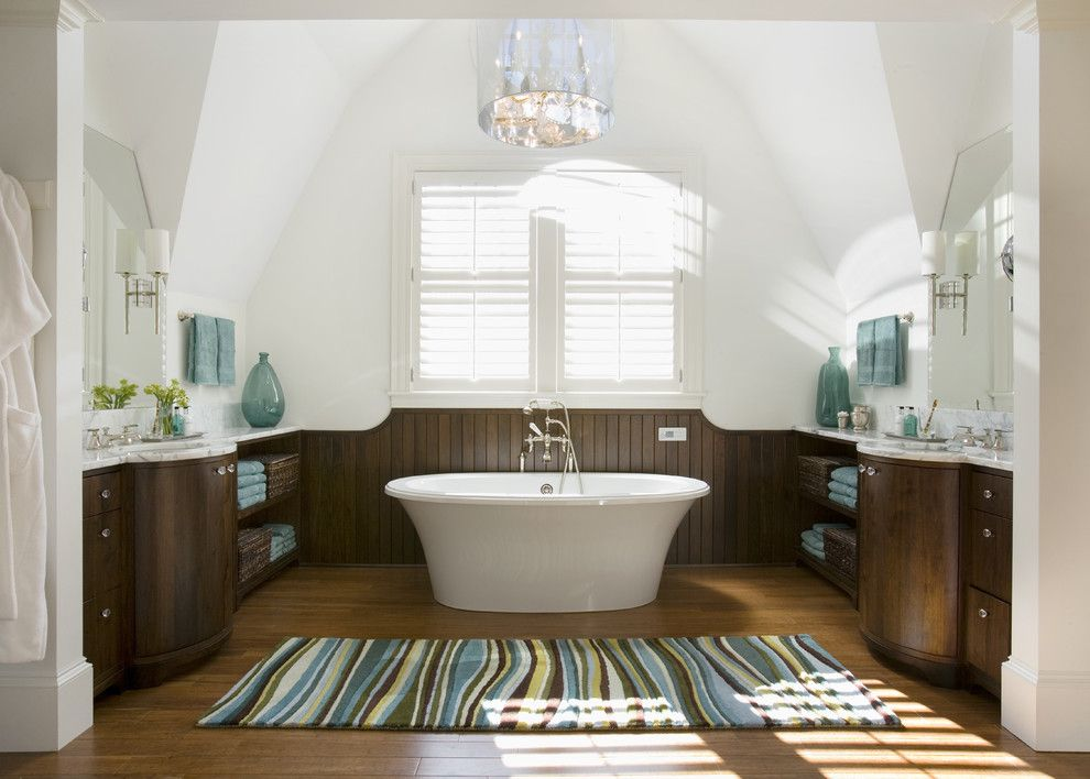 Renovate Credit Card for a Beach Style Bathroom with a Coffee Bathroom and Profile by Siemasko + Verbridge
