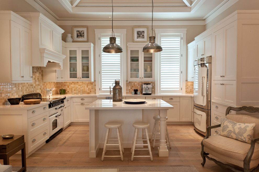Renovate Credit Card for a Traditional Kitchen with a White Drawers and La Playa Residence by Collins & Dupont Design Group