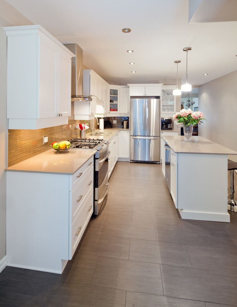 Renovator for a Contemporary Kitchen with a Mississauga Space Planning and Contemporary Kitchen Reno by Nicola Interiors