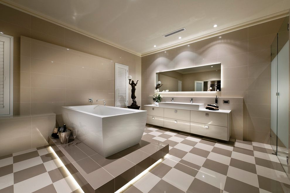 Replace Bathtub Faucet for a Contemporary Bathroom with a Sculpture and Home Design   the Raffles by Webb & Brown Neaves