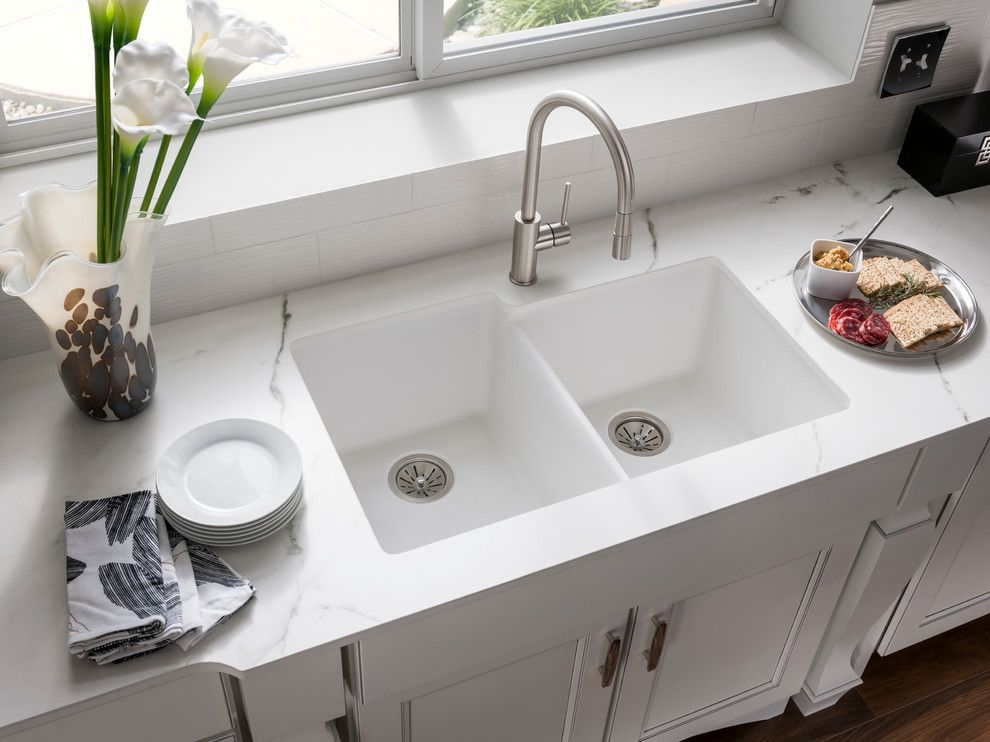 Replacing Shower Faucet for a Contemporary Spaces with a Contemporary and Elkay Sinks and Faucets by Elkay Sinks and Faucets
