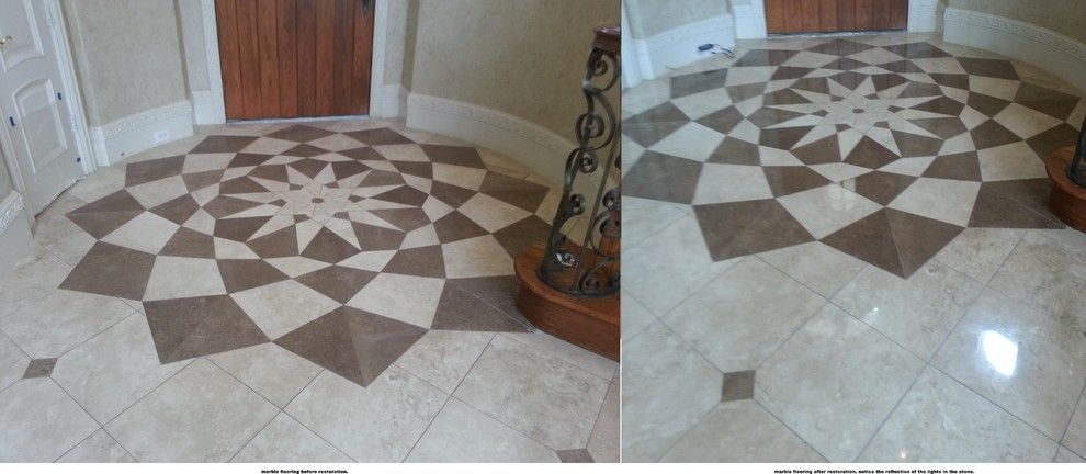 Restoration Hardware Dallas for a  Spaces with a Terrazzo and Marble Floor Restoration Before & After #1 by Active Marble Preservation, Inc.