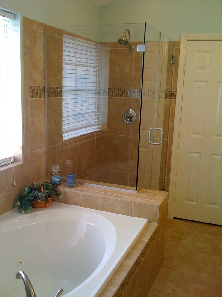 Restoration Hardware Houston for a Traditional Bathroom with a Tile Shower and Tile Showers by Jc Remodeling & Restoration, Llc