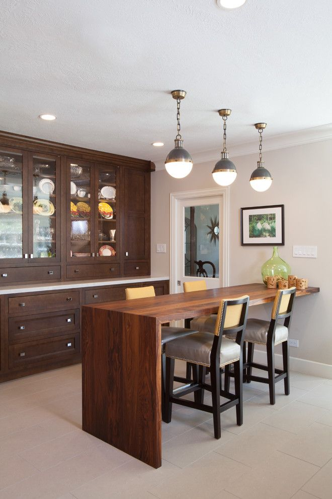 Restoration Hardware Houston for a Traditional Kitchen with a Custom Solid Walnut Eating Bar and the New Transitional Kitchen by Kitchen & Bath Concepts