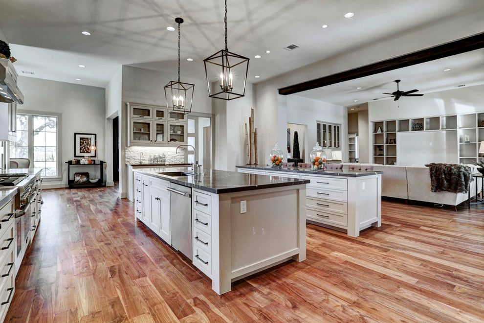Restoration Hardware Houston for a Transitional Kitchen with a Bath Tub and Gramercy, New Construction by Eric Coan & Associates