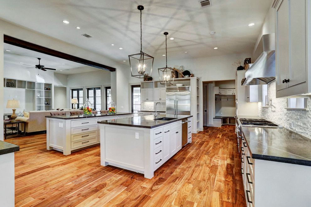 Restoration Hardware Houston for a Transitional Kitchen with a Vaulted Ceilings and Gramercy, New Construction by Eric Coan & Associates