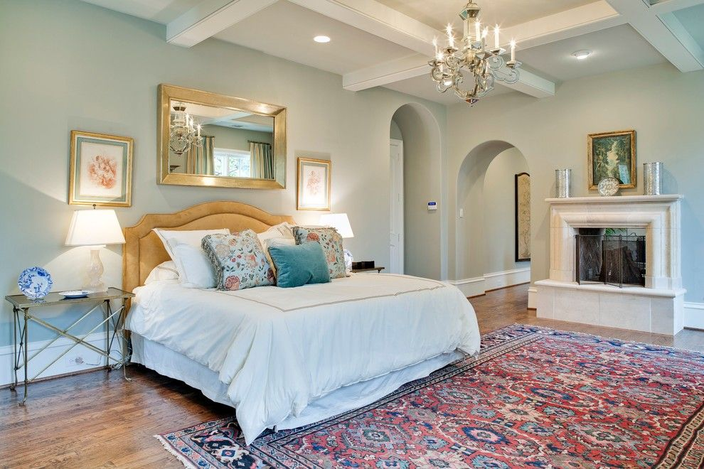 Restoration Hardware Nyc for a Traditional Bedroom with a Grey Wall and Gillon Highland Park by Tatum Brown Custom Homes