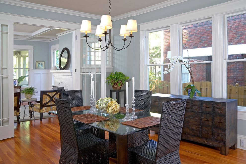 Restoration Hardware Nyc for a Traditional Dining Room with a Square Dining Table and Ramos Design Build Corporation   Tampa by Ramos Design Build Corporation