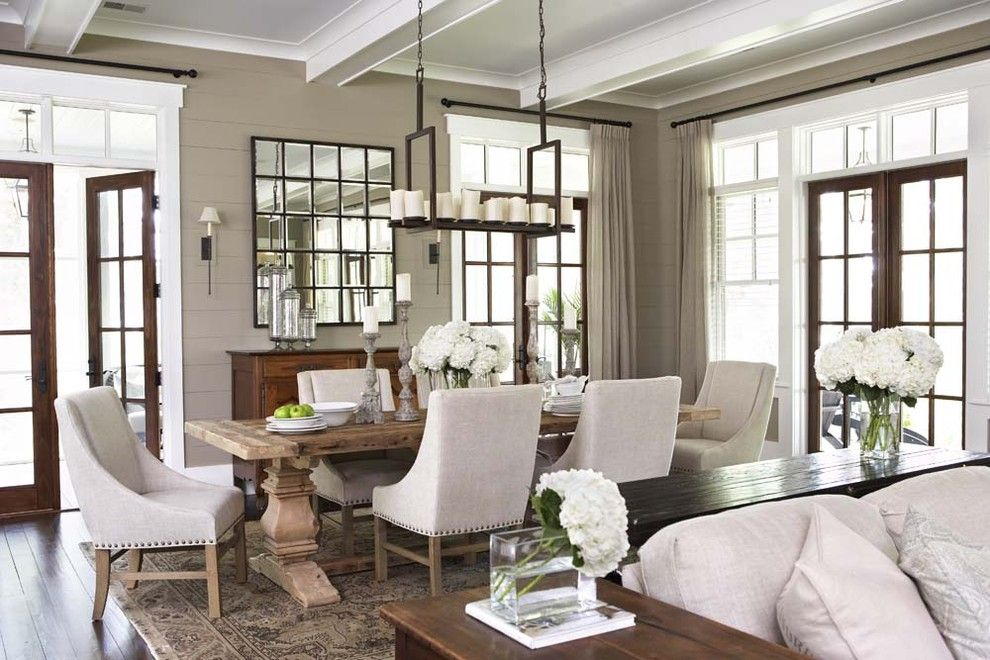 Restoration Hardware Nyc for a Traditional Dining Room with a Wood Flooring and Palmetto Bluff   Private Residence by Linda Mcdougald Design | Postcard From Paris Home