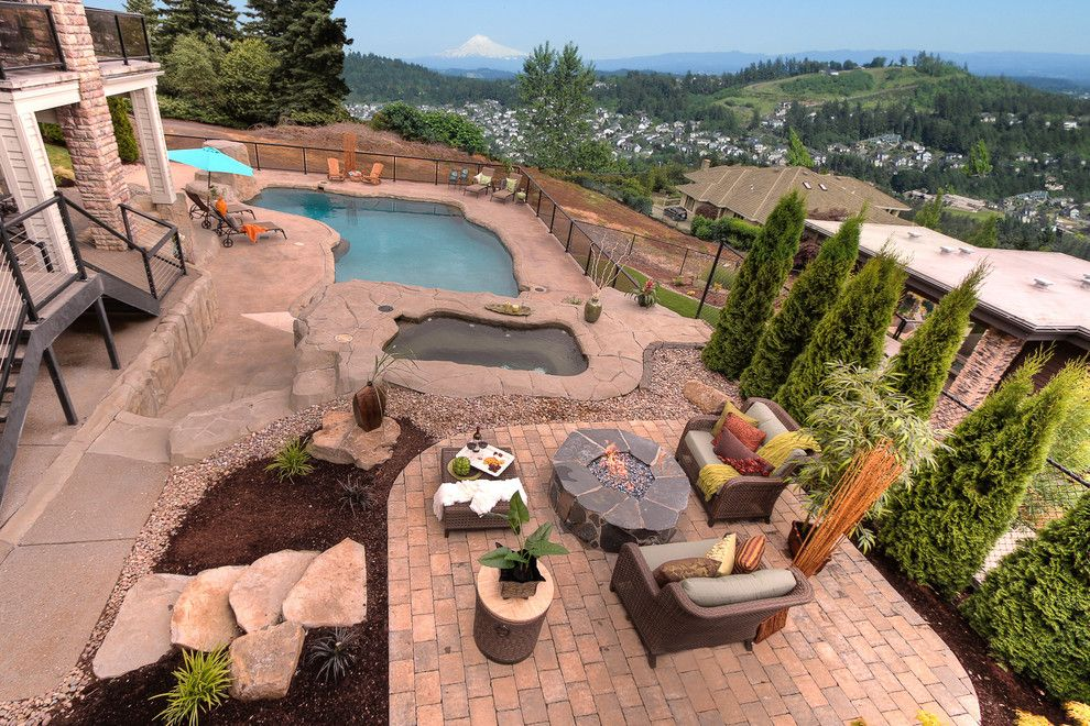 Restoration Hardware Portland for a Contemporary Patio with a Outdoor Living and Nguyen by Paradise Restored Landscaping & Exterior Design