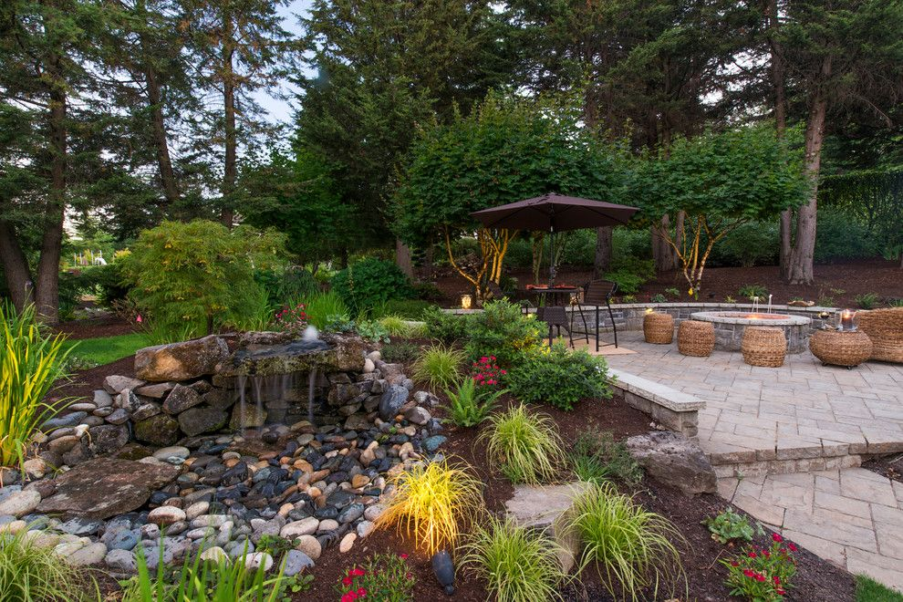 Restoration Hardware Portland for a Craftsman Landscape with a Pizza Oven and Ruesch Project by Paradise Restored Landscaping & Exterior Design