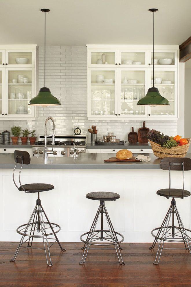 Restoration Hardware Portland for a Traditional Kitchen with a Sink and Rejuvenation: Kitchen by Rejuvenation
