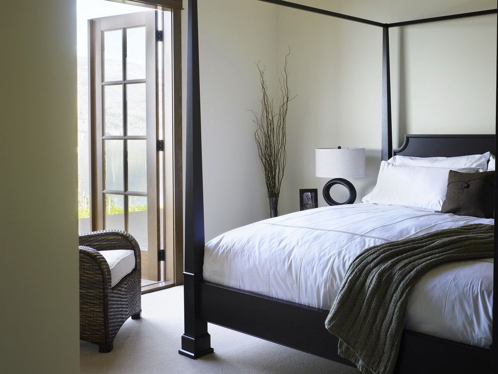 Restorations Hardware for a Contemporary Bedroom with a Wicker Furniture and While at Chil Design Group by Claudia Leccacorvi