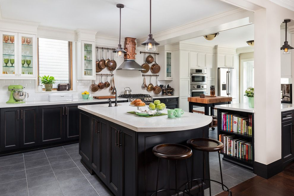 Revco for a Transitional Kitchen with a Vintage Style Glass Pulls and Vintage Beach Home   Dream Art Deco Kitchen by Gillian Jackson   Jackson Photography & Design