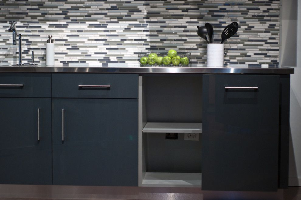 Rewiring a House for a Midcentury Kitchen with a Kitchen Cabinets and Timeless Modern Kitchen by Woodways