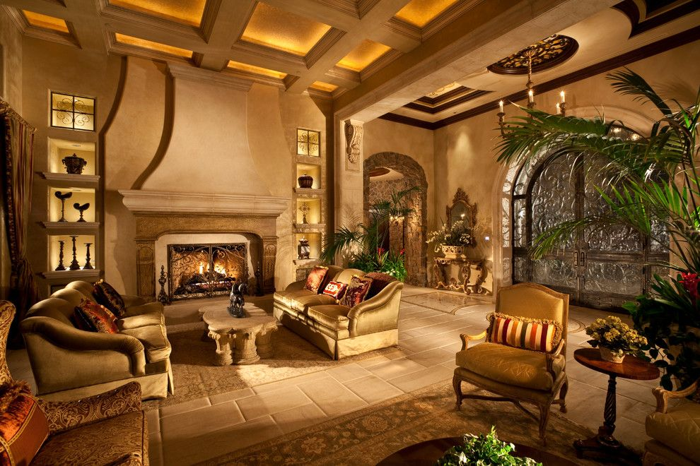 Richmond American Homes Las Vegas for a Mediterranean Living Room with a Formal Living Room and Renaissance Waters by Sun West Custom Homes Llc