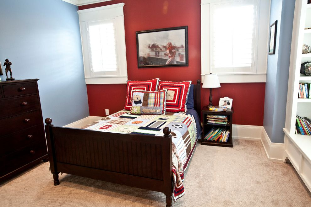 Ridgewater for a Transitional Bedroom with a Custom Builder Houston and His Room by Ridgewater Homes Llc