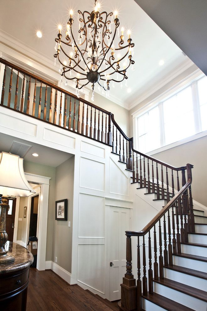 Ridgewater for a Transitional Staircase with a Custom Builder and Staircase Lighting by Ridgewater Homes Llc