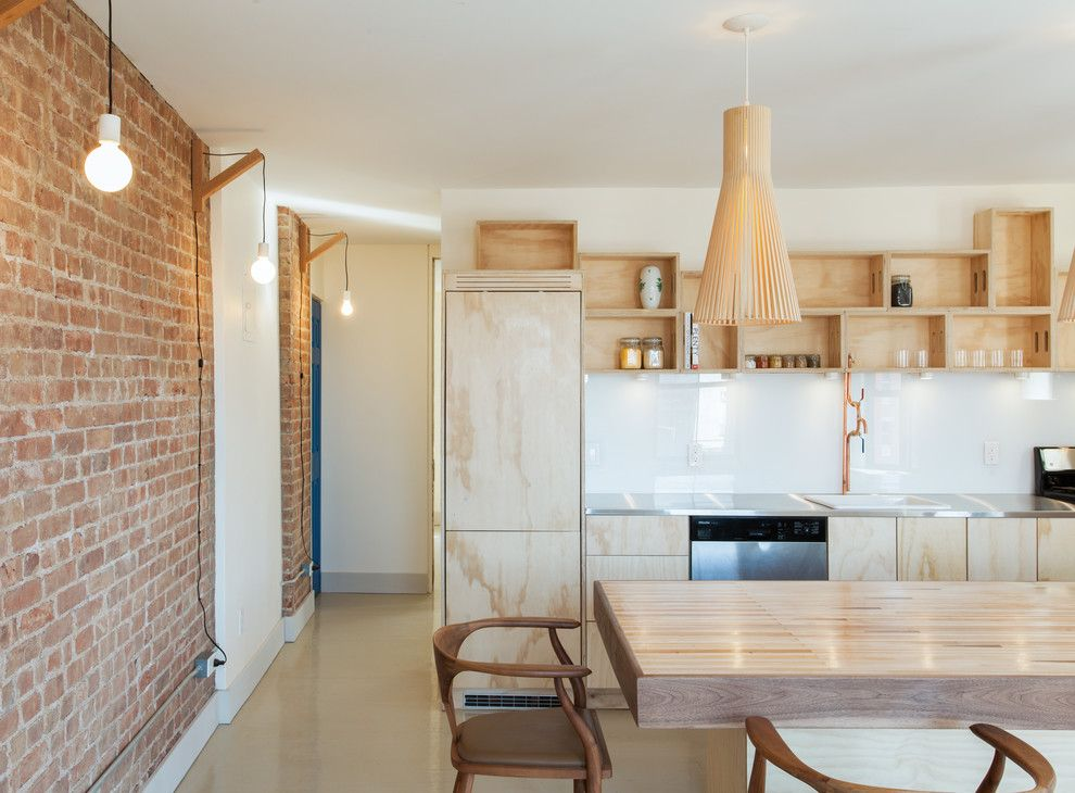 Rittenhouse Hill Apartments for a Contemporary Kitchen with a Local and Cobble Hill Apartment Renovation by Co Adaptive Architecture Pllc