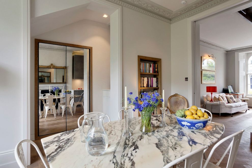 Rittenhouse Hill Apartments for a Eclectic Dining Room with a Architrave and Notting Hill Apartment No 1 by Stephen Fletcher Architects