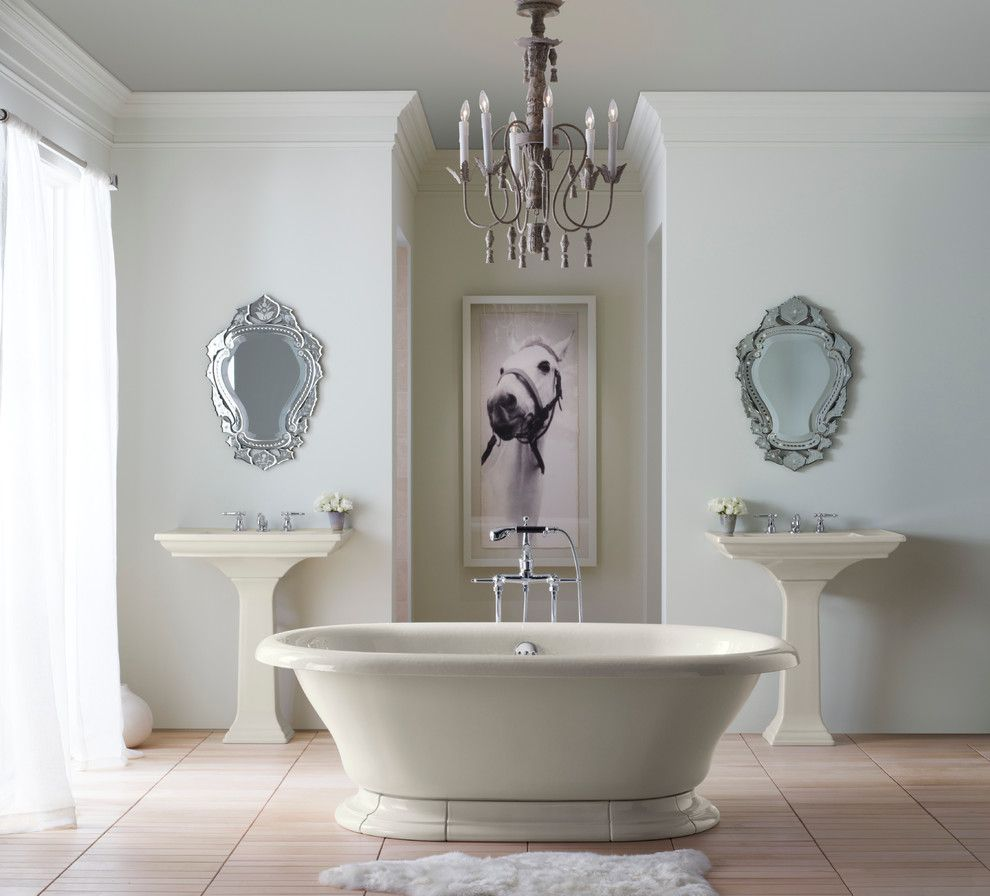 Rocking Horse Chicago for a Traditional Bathroom with a Bath and Spa Accessories and Kohler Bathrooms by Capitol District Supply