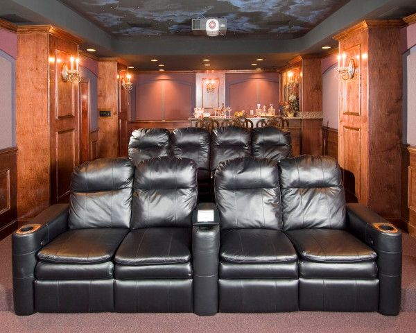 Rocky Mount Theater for a Traditional Home Theater with a Tray Ceiling and Our Work by Merge Tech, Inc.