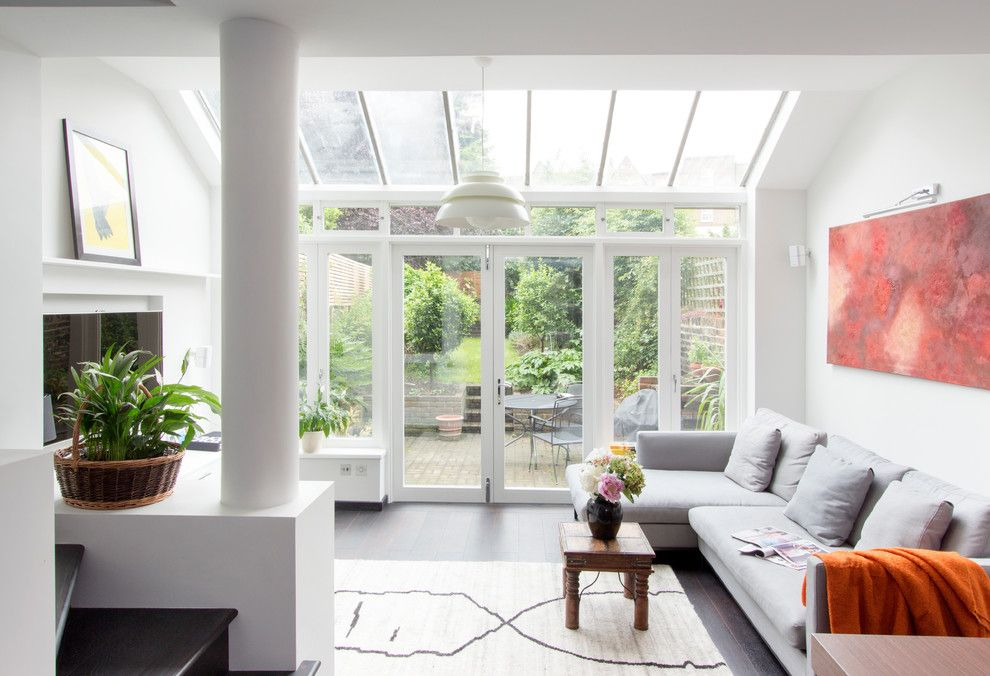 Roofs or Rooves for a Contemporary Living Room with a Calming and Crowland Terrace by Amberth