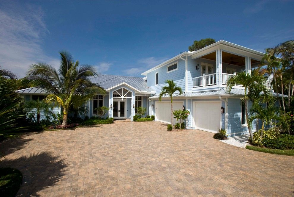 Roofs or Rooves for a Tropical Exterior with a Hip Roof and Naples Old Florida Beach Home by 41 West
