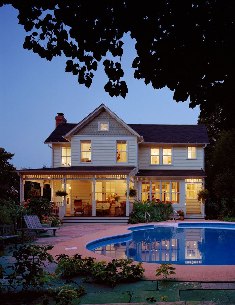 Roofs or Rooves for a Victorian Exterior with a Kitchen Entrance and Willow Oak Residence by Moore Architects, Pc
