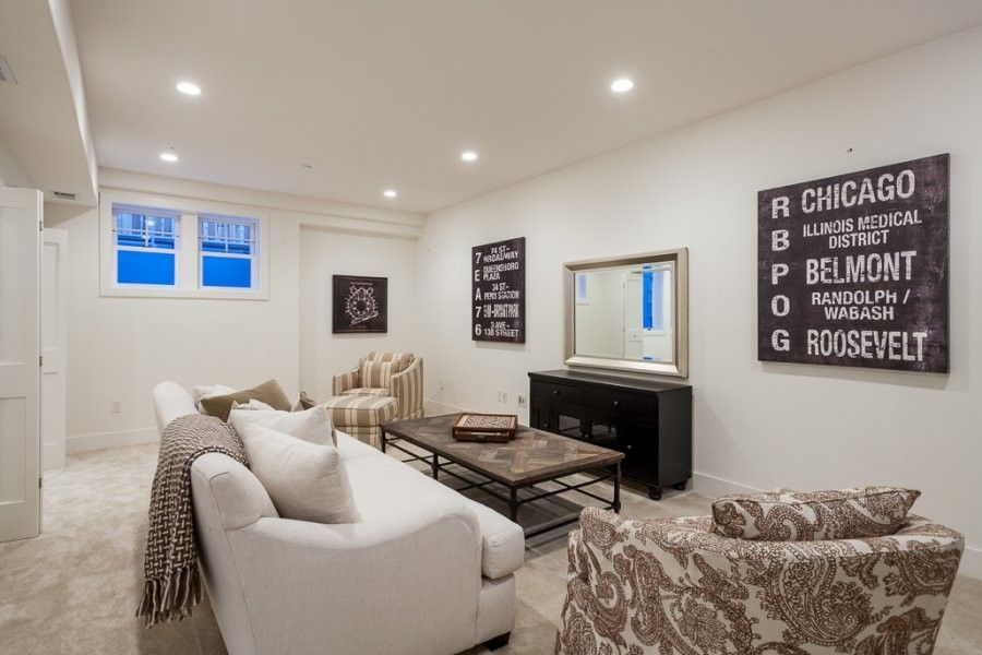 Rosewood Palo Alto for a Farmhouse Basement with a Palo Alto and Palo Alto Charm by Just the Touch  Liling Lampell