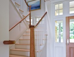 Roundtree for a Beach Style Staircase with a Beach Style and Lake Champlain Shingle Style by Roundtree Construction
