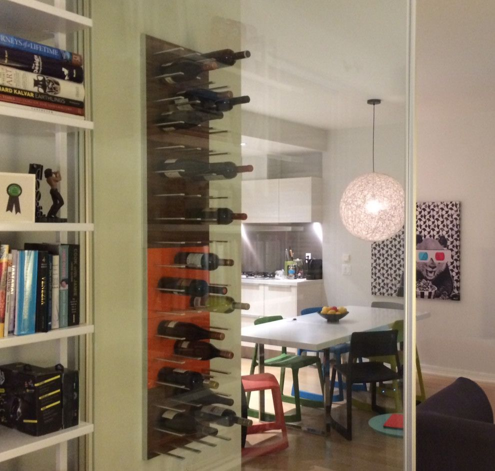 Rta Chicago for a Modern Wine Cellar with a Rta and Wine Racks Stact Around the World by Stact Wine Displays Inc.