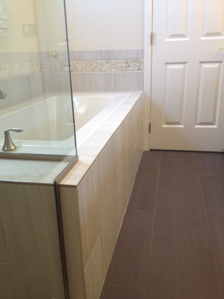 Running Creek Casino for a Contemporary Bathroom with a Renovation and Mill Creek Master Bath by Home Run Solutions, Llc