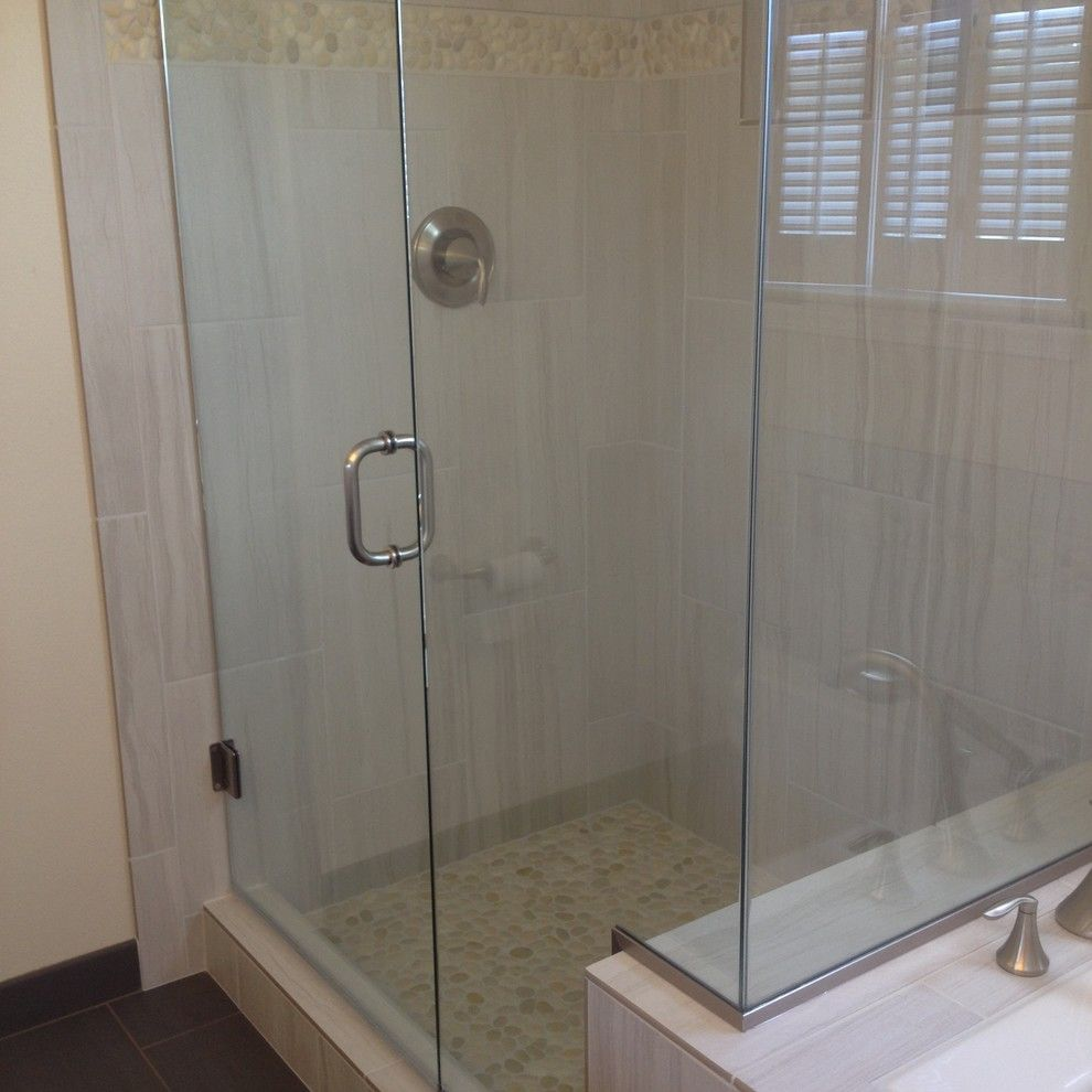 Running Creek Casino for a Transitional Bathroom with a Custom Millwork and Mill Creek Master Bath by Home Run Solutions, Llc