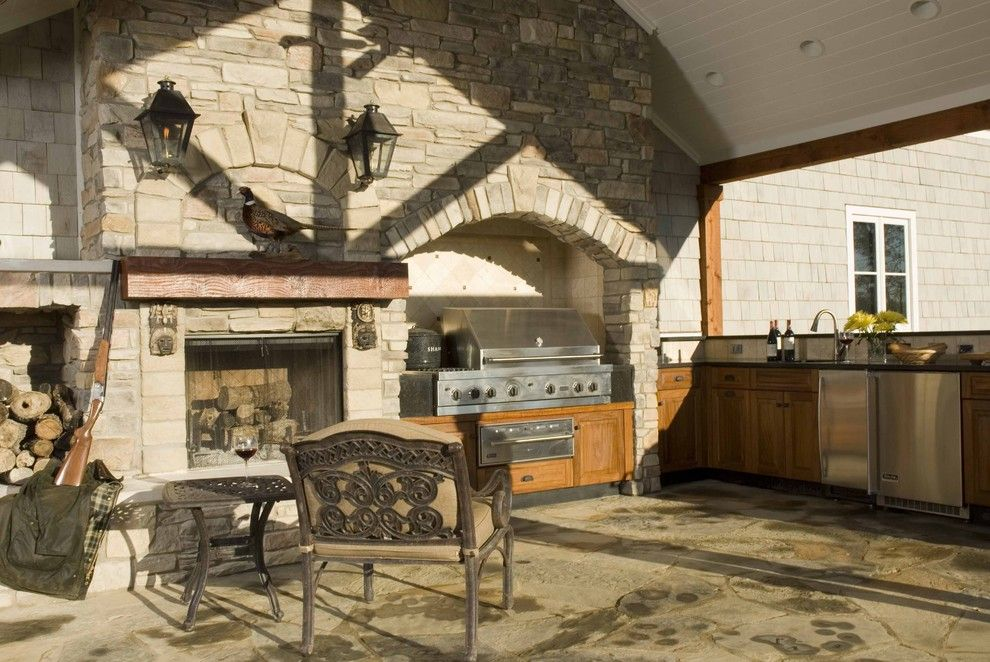 Russet Color for a Traditional Patio with a Outdoor Kitchen and Traditional Patio by Houzz.com