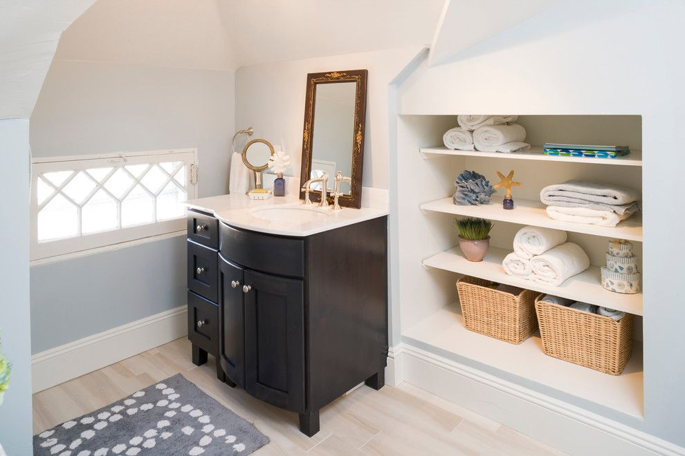 Rye Ny Real Estate for a Traditional Bathroom with a Built in and House in Rye by Sequined Asphault Studio Photography
