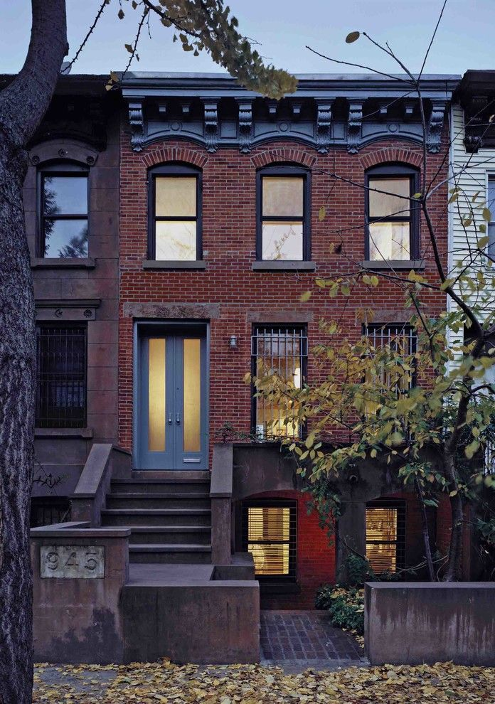 Rye Ny Real Estate for a Transitional Exterior with a Townhouse and Prospect Heights Row House by Delson or Sherman Architects Pc