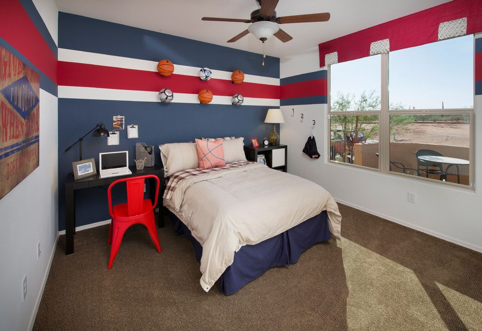 Ryland Homes Az for a Contemporary Kids with a Soccer Balls and the Catalina Plan at Tangerine North | Tucson, Az by Meritage Homes