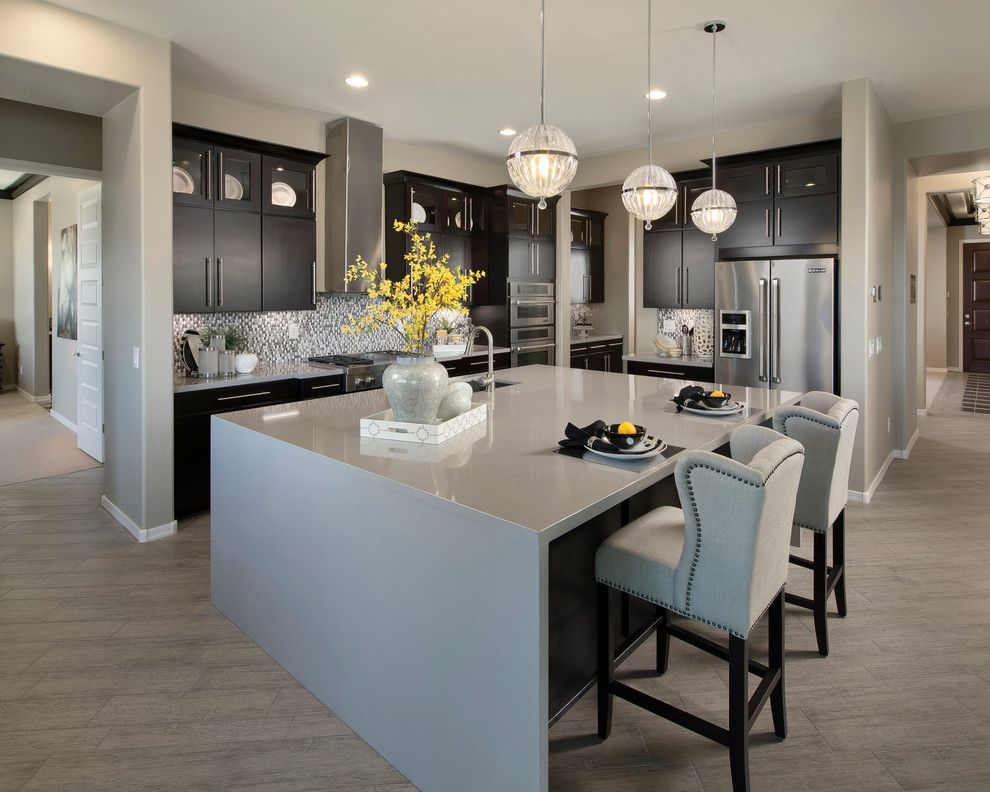 Ryland Homes Az for a Contemporary Kitchen with a Pendant Lighting and Annapolis Plan at Victoria | Phoenix, AZ by Meritage Homes