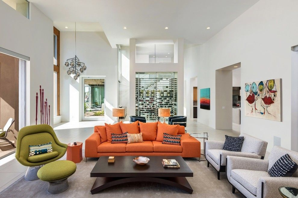 Ryland Homes Az for a Contemporary Living Room with a Mountain Views and Modern with Mountain Views by Drewettworks