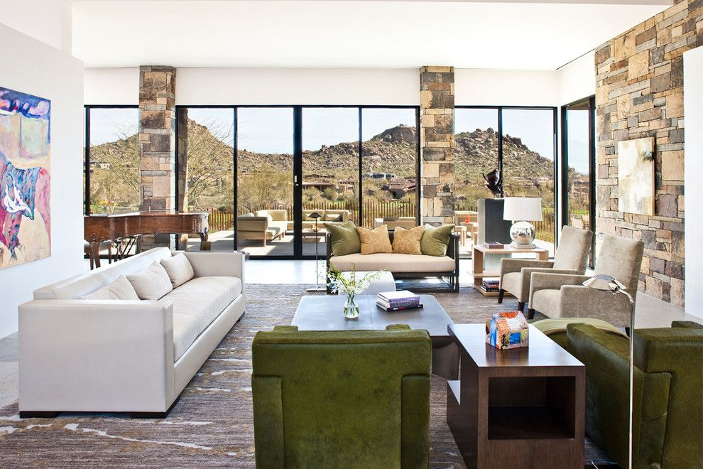 Ryland Homes Az for a Modern Living Room with a Modern and Collector's Paradise | Estancia by Drewettworks