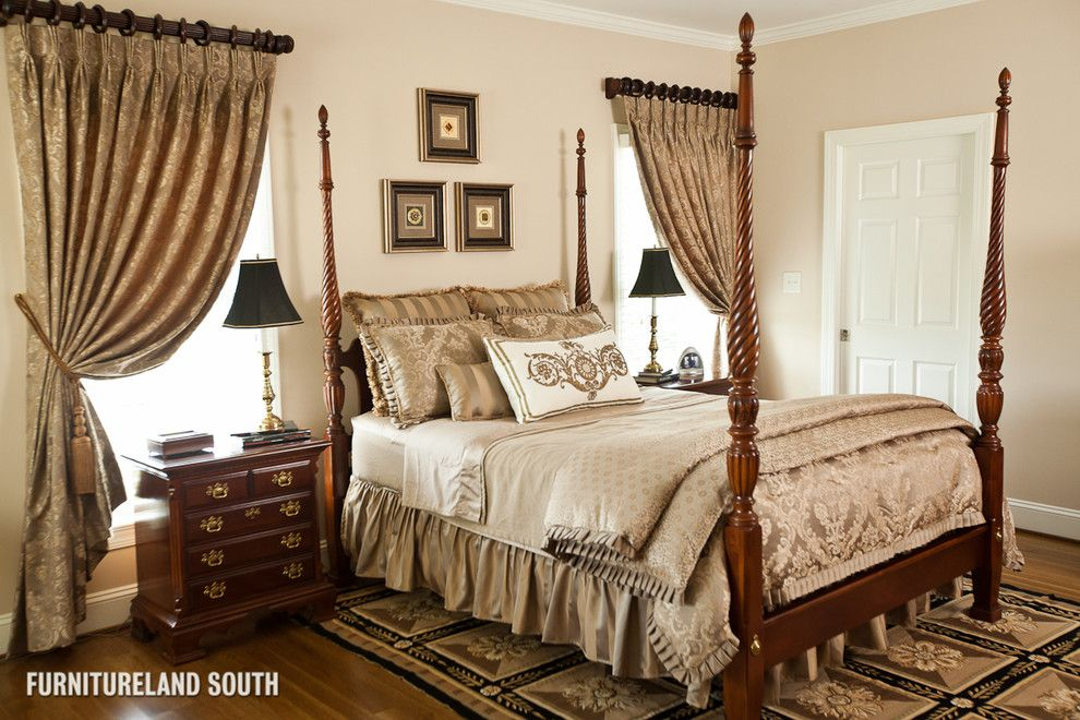 Ryland Homes Charlotte for a Traditional Bedroom with a Accent Color and Custom Designed Traditional Home by Furnitureland South
