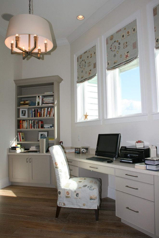 Ryland Homes Denver for a Beach Style Home Office with a Roman and Finishing Touches by Finishing Touches