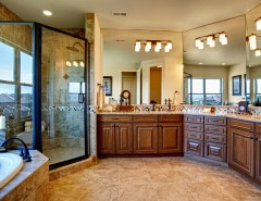 Ryland Homes Denver for a Traditional Bathroom with a Master Bathroom in a South Denver Custom and Heritage Hills - 9585 Silent Hills Lane by Celebrity Communities